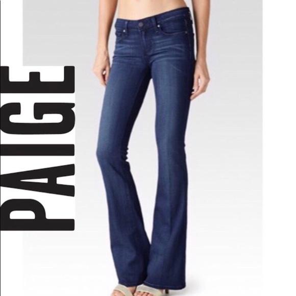 PAIGE Denim - PAIGE Petite Laurel Canyon Classic Dark Wash Jeans
